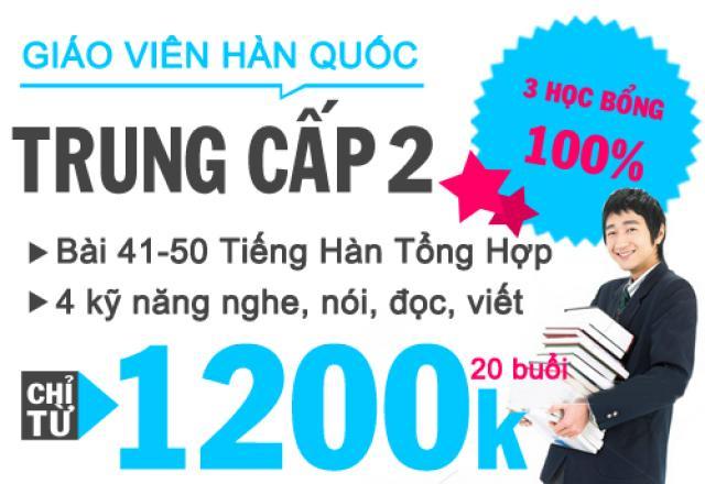 Khóa học tiếng Hàn trung cấp 2 tại Hà Nội - GV bản ngữ