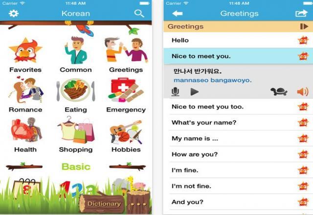App học tiếng Hàn cho Iphone