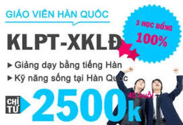 Lịch khai giảng tháng 7/2016 - Lớp dạy tiếng Hàn KLPT - XKLĐ