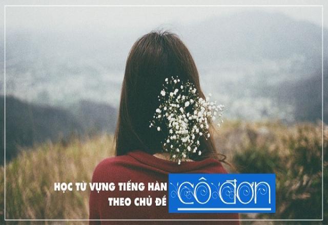 Lễ độc thân 11/11 - Học từ vựng tiếng Hàn theo chủ đề cô đơn